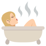 Person Taking Bath: Medium-Light Skin Tone on EmojiOne 2.2.4