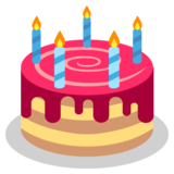 Birthday Cake on JoyPixels 2.2.4