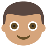 Boy: Medium Skin Tone on EmojiOne 2.2.4