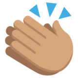 Clapping Hands: Medium Skin Tone on JoyPixels 2.2.4