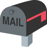 Closed Mailbox with Lowered Flag on JoyPixels 2.2.4