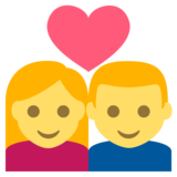Couple with Heart on JoyPixels 2.2.4