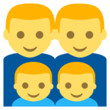 Family: Man, Man, Boy, Boy on JoyPixels 2.2.4