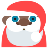 Santa Claus: Dark Skin Tone on JoyPixels 2.2.4