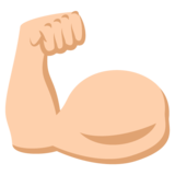 Flexed Biceps: Medium-Light Skin Tone on JoyPixels 2.2.4