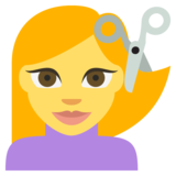 Person Getting Haircut on JoyPixels 2.2.4