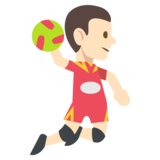 Person Playing Handball: Light Skin Tone on JoyPixels 2.2.4