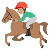 Horse Racing: Medium Skin Tone on JoyPixels 2.2.4