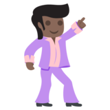 Man Dancing: Dark Skin Tone on JoyPixels 2.2.4