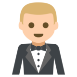 Man in Tuxedo: Medium-Light Skin Tone on JoyPixels 2.2.4