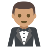 Person in Tuxedo: Medium Skin Tone on JoyPixels 2.2.4
