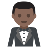 Man in Tuxedo: Dark Skin Tone on JoyPixels 2.2.4