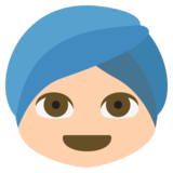 Person Wearing Turban: Medium-Light Skin Tone on JoyPixels 2.2.4