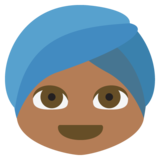 Person Wearing Turban: Medium-Dark Skin Tone on JoyPixels 2.2.4