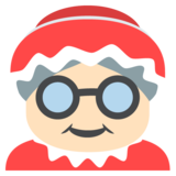 Mrs. Claus: Light Skin Tone on JoyPixels 2.2.4