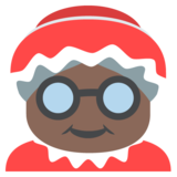 Mrs. Claus: Dark Skin Tone on EmojiOne 2.2.4