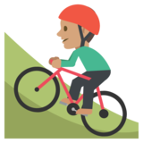 Person Mountain Biking: Medium Skin Tone on JoyPixels 2.2.4
