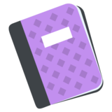 Notebook with Decorative Cover on JoyPixels 2.2.4