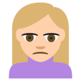 Person Frowning: Medium-Light Skin Tone on JoyPixels 2.2.4