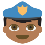 Police Officer: Medium-Dark Skin Tone on JoyPixels 2.2.4