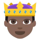 Prince: Dark Skin Tone on EmojiOne 2.2.4