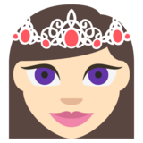 Princess: Light Skin Tone on JoyPixels 2.2.4