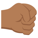 Right-Facing Fist: Medium-Dark Skin Tone on EmojiOne 2.2.4