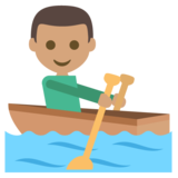 Person Rowing Boat: Medium Skin Tone on JoyPixels 2.2.4