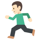 Person Running: Light Skin Tone on JoyPixels 2.2.4