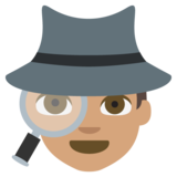 Detective: Medium Skin Tone on JoyPixels 2.2.4