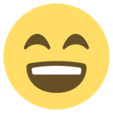 Grinning Face With Smiling Eyes on EmojiOne 2.2.4