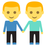 Men Holding Hands on JoyPixels 2.2.4