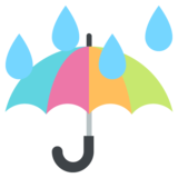 Umbrella with Rain Drops on JoyPixels 2.2.4