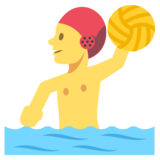 Person Playing Water Polo on JoyPixels 2.2.4