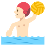 Person Playing Water Polo: Light Skin Tone on JoyPixels 2.2.4