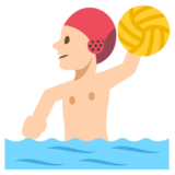Person Playing Water Polo: Medium-Light Skin Tone on JoyPixels 2.2.4