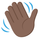 Waving Hand: Dark Skin Tone on JoyPixels 2.2.4