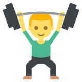 Person Lifting Weights on JoyPixels 2.2.4