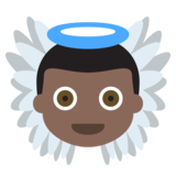 Baby Angel: Dark Skin Tone on JoyPixels 2.2.5