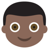 Boy: Dark Skin Tone on JoyPixels 2.2.5