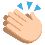 Clapping Hands: Medium-Light Skin Tone on JoyPixels 2.2.5