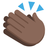Clapping Hands: Dark Skin Tone on JoyPixels 2.2.5