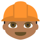 Construction Worker: Medium-Dark Skin Tone on JoyPixels 2.2.5