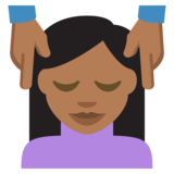 Person Getting Massage: Medium-Dark Skin Tone on JoyPixels 2.2.5