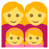 Family: Woman, Woman, Girl, Girl on JoyPixels 2.2.5