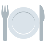 Fork and Knife with Plate on JoyPixels 2.2.5