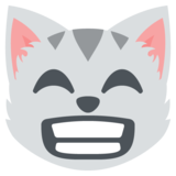 Grinning Cat with Smiling Eyes on JoyPixels 2.2.5