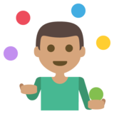 Person Juggling: Medium Skin Tone on JoyPixels 2.2.5