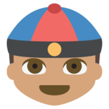 Person With Skullcap: Medium Skin Tone on JoyPixels 2.2.5