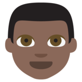 Man: Dark Skin Tone on JoyPixels 2.2.5